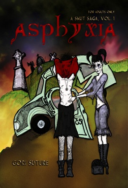 Cover Art for Gori Suture's erotic horror novel, Asphyxia - A Smut Saga Vol. 1